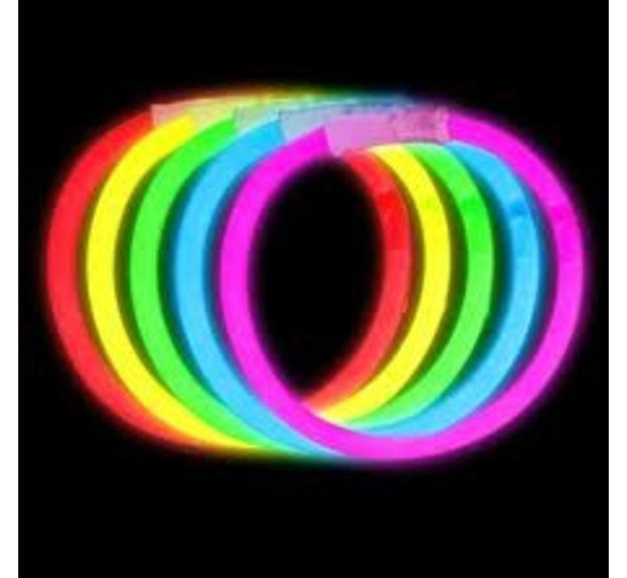 Mixed glow bracelets