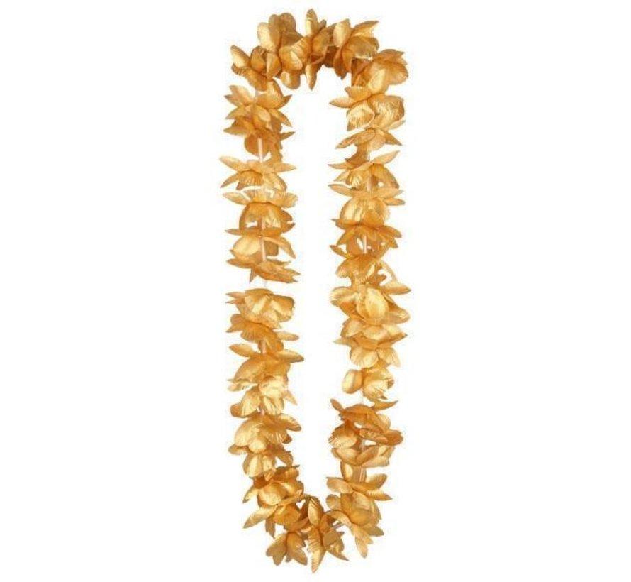 Collier Hawaii en or   Guirlande de fleurs hawaïennes