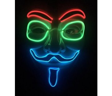 Breaklight.be Masker EL Wire Anonymous- V for Vendetta