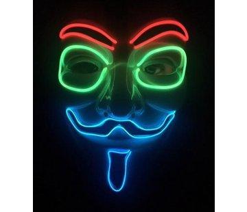Breaklight.be Masker EL Wire Anonymous- V for Vendetta