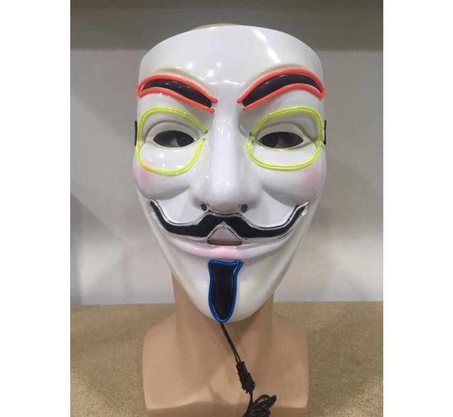 Masker EL Wire Anonymous- V for Vendetta