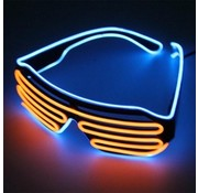 Breaklight.be El Wire Shutter bril Blauw/Oranje