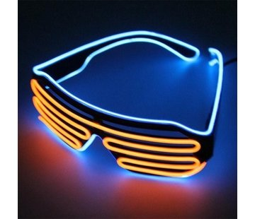 Breaklight.be El Wire Shutter glasses Blue / Orange