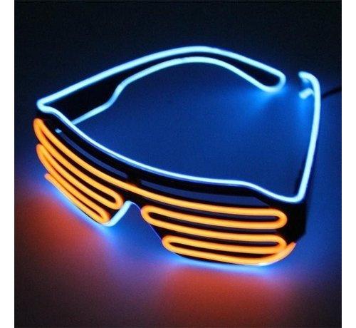 Breaklight.be El Wire Shutter bril Blauw/Oranje