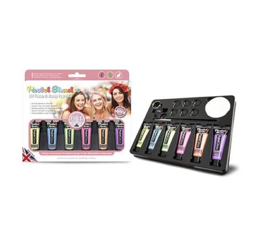 Paintglow | Pastel UV face en body paint kit