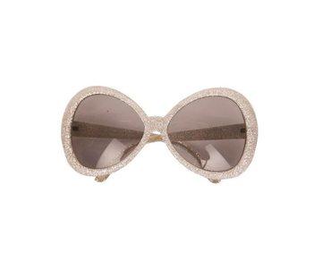 Partyline Disco Glasses Glitter Silver