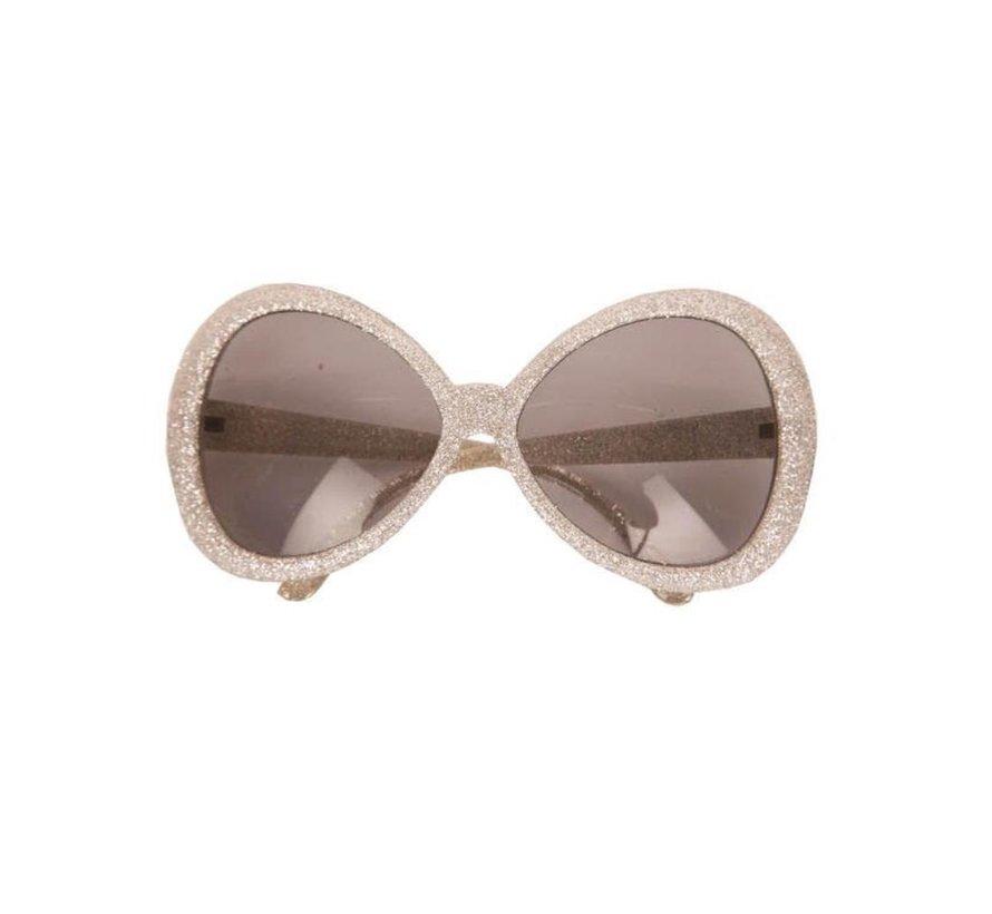 Disco Glasses Glitter Silver