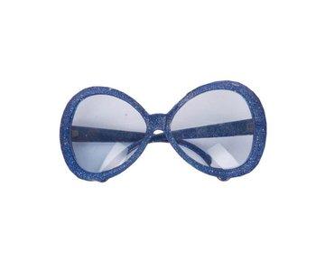 Partyline Disco Glasses Glitter Blue