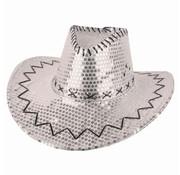 Partyline Chapeau de cowboy paillettes argent  | Western