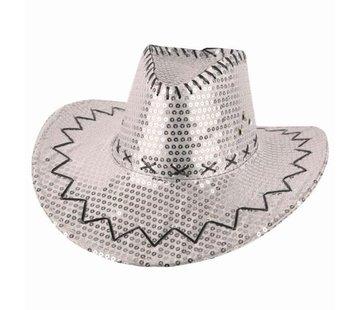 Partyline Chapeau de cowboy paillettes argent    Western
