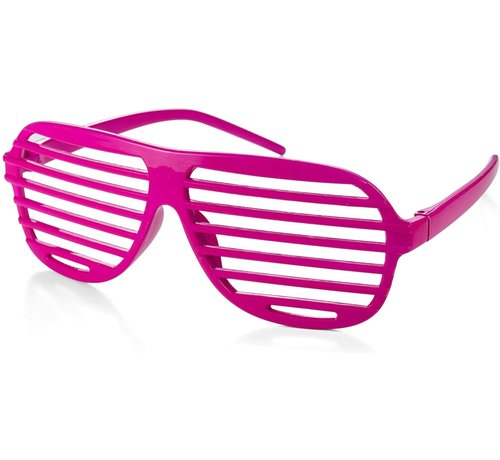 Partyline Disco Party Glasses Screen Pink   Shutter Shade Pink
