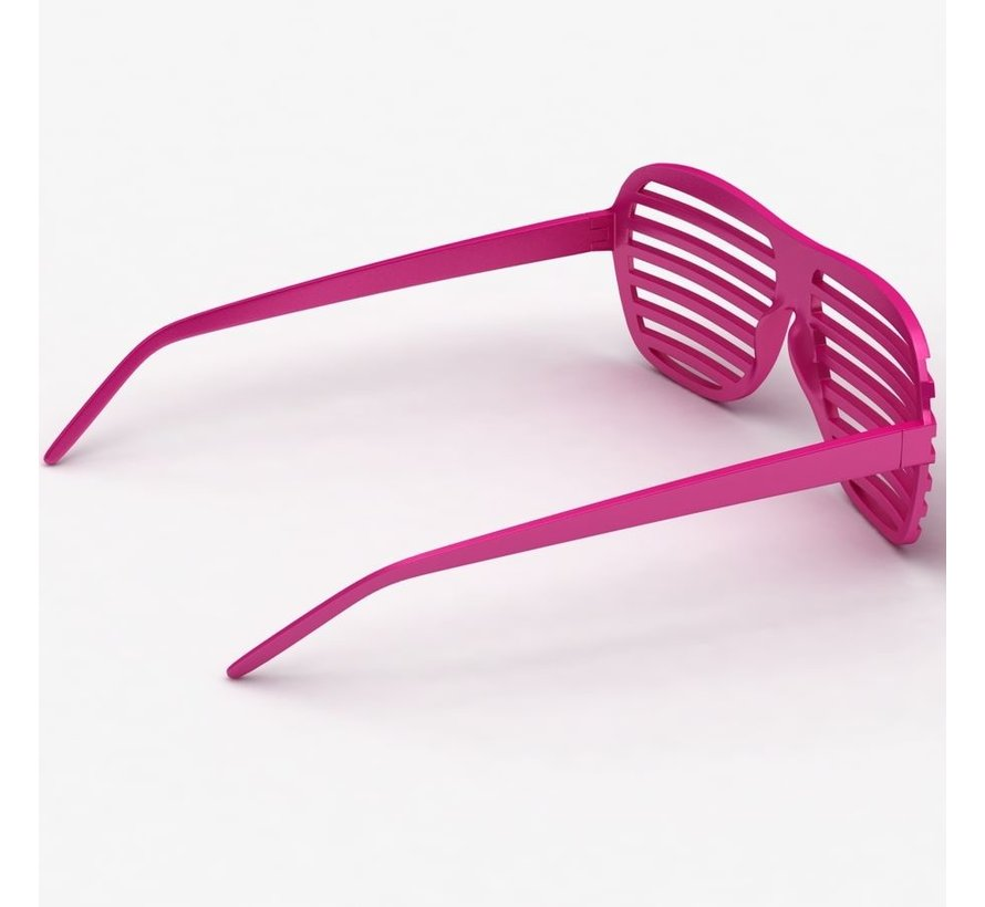 Disco Party Glasses Screen Pink   Shutter Shade Pink