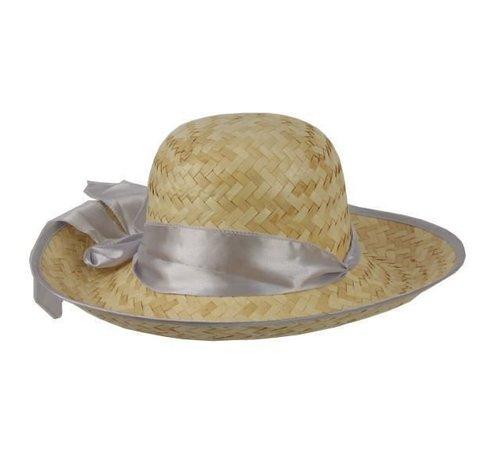 Partyline Chapeau Paille Femme + ruban