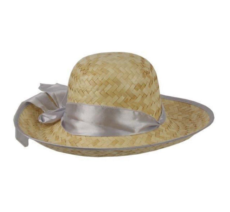 Chapeau Paille Femme + ruban