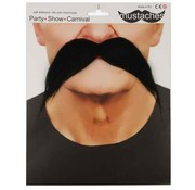 Partyline Mustache Gringo | Big black fake mustache