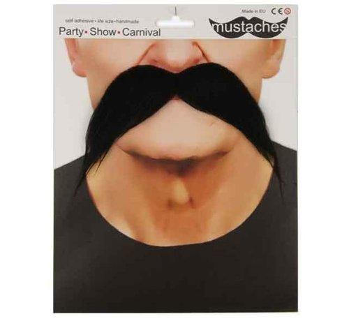 Partyline Mustache Gringo | Big black fake mustache