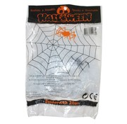 Funny Fashion Spinnenweb wit 20 g + spin   Halloween deco