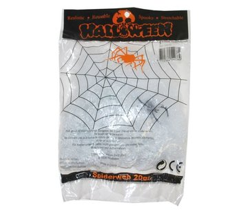 Funny Fashion Spider web white 20 g + spin | Halloween deco