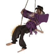 Partyline Deco Moving Witch 90 cm | Halloween Light and sound