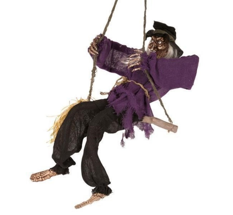 Deco Moving Witch 90 cm | Halloween Light and sound
