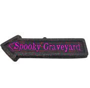 Partyline Deco Plate  Arrow | Spooky Graveyard