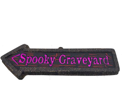 Partyline Déco Panneau Flèche | Spooky Graveyard