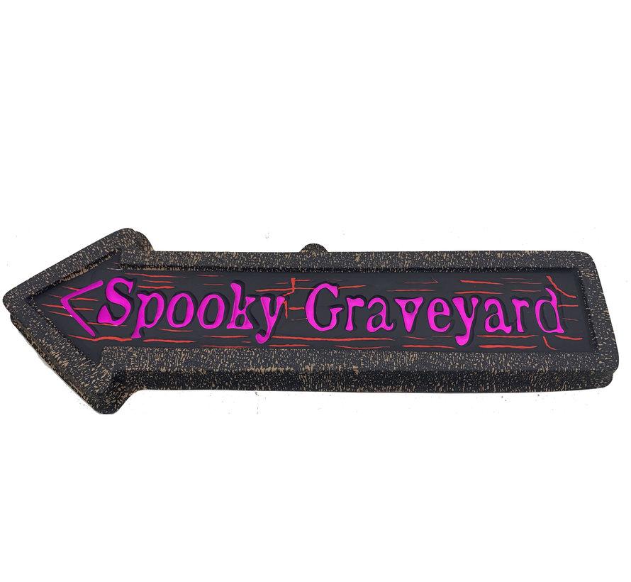 Déco Panneau Flèche | Spooky Graveyard