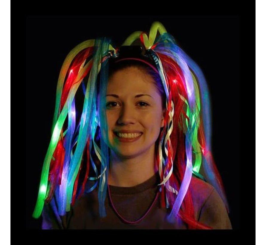 Lichtgevende Crazy Dreadlocks - Led Diadeem