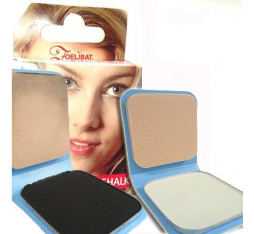 Zoelibat Haarkrijt   Duo Pack Wit en Zwart haarkrijt ( 6 g )