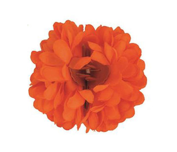 Funny Fashion Pince à cheveux orange fluo Fleur | Pince à cheveux orange