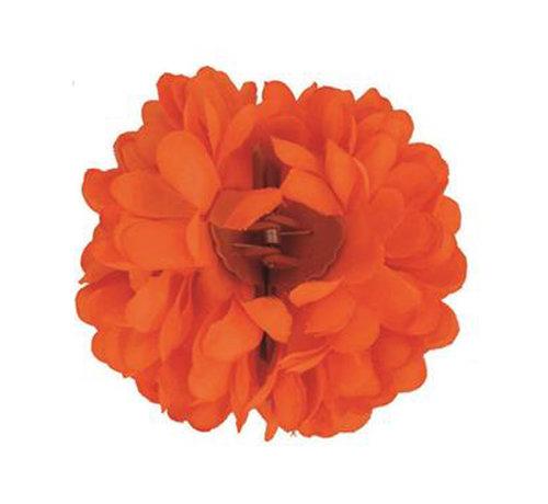 Funny Fashion Pince à cheveux orange fluo Fleur   Pince à cheveux orange