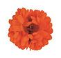 Neon Orange Hair Clip Flower | Orange Hair Clip