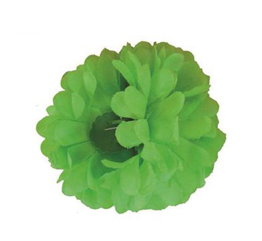 Pince à cheveux vert fluo Fleur | Pince à cheveux vert
