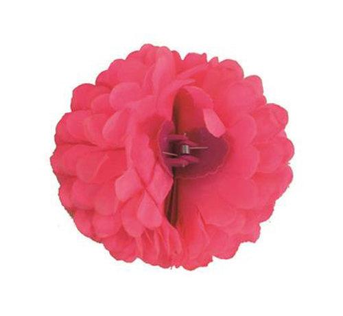 Funny Fashion Pince à cheveux rose fluo Fleur   Pince à cheveux rose