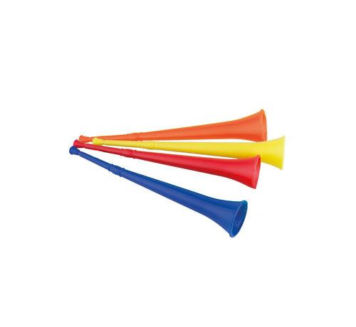 Funny Fashion Vuvuzela 48 cm  4 stuks  | 4 kleuren vuvuzela pack