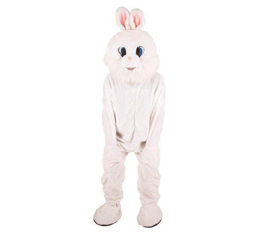 Kostuum Plush Wit Konijn | Mascotte Kostuum