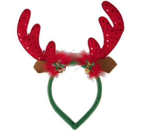 Partyline Reindeer Diadem with bells | Christmas diadem