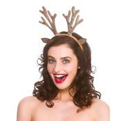 Wicked Costumes  6x Diadème de renne scintillant avec cloches