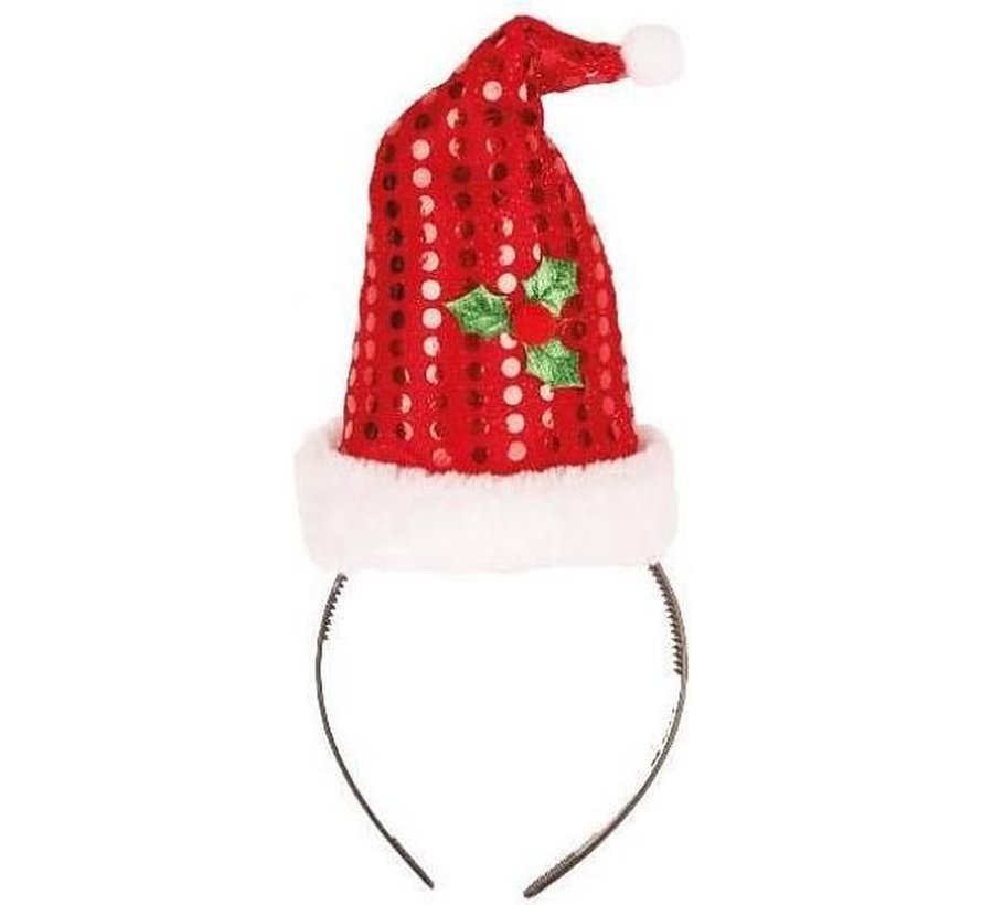 12 bonnets de Noël sur diadème   Promo paquet de Noël