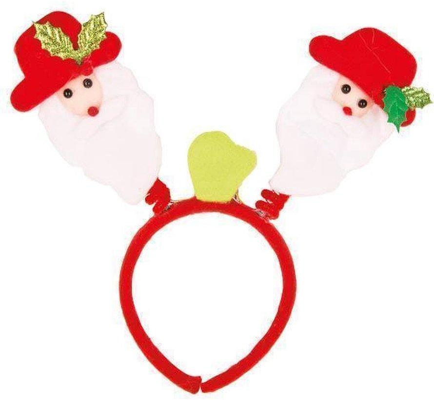 12 lumineux Père Noël sur diadème| Promo paquet de Noël