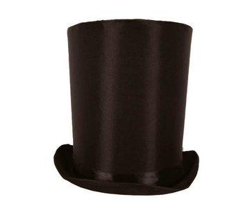 Partyline Chapeau haut de forme Lincoln noir 24 cm | Chapeau haut de forme noir