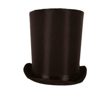 Partyline Top Hat Lincoln black 24 cm | Black top hat