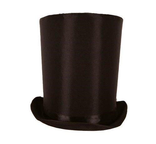 Partyline Hoge Hoed Lincoln zwart 24 cm | Zwarte hoge hoed