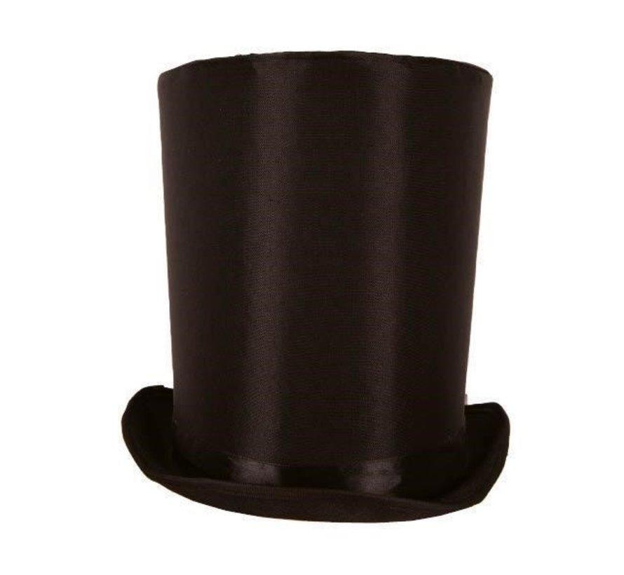 Hoge Hoed Lincoln zwart 24 cm | Zwarte hoge hoed