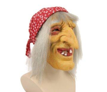 Partyline Masker oude heks | Horror masker heks