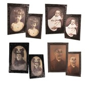 Partyline Cadre photo Halloween ( 38 x 25 cm )  | portrait d'horreur | 4 cadres photo