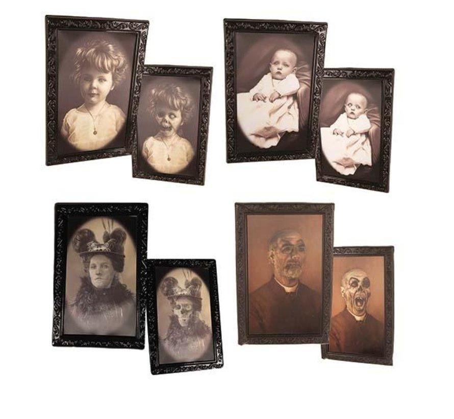 Halloween photo frame | horror portrait | 4 pcs photo frames