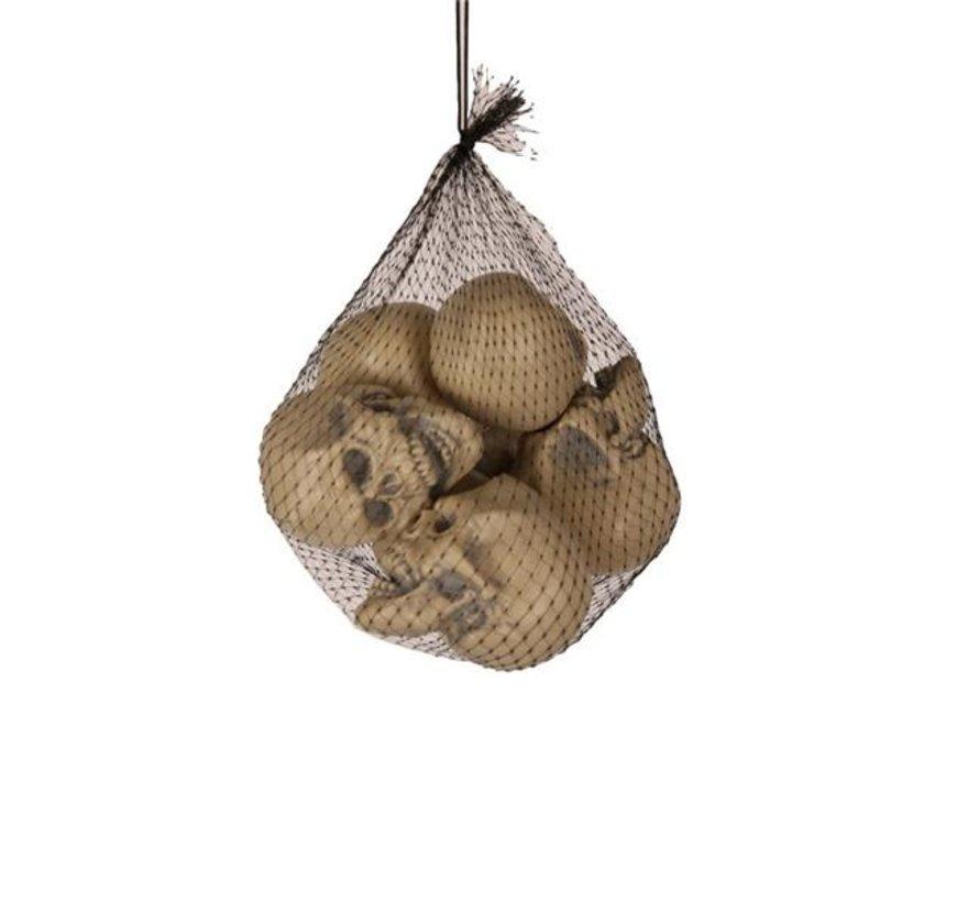 6 pièces Skulls (8 cm) | Décoration Halloween