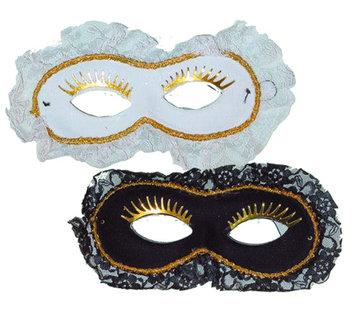 Partyline Masque vénitien Duo blanc / noir   2 masques vénitiens