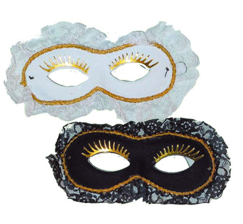 Partyline Duo Venetian Mask white / black | 2 Venetian Masks